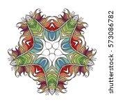 mehndi lace tattoo. art nouveau ... | Shutterstock . vector #573086782