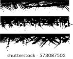 grunge edges vector set .... | Shutterstock .eps vector #573087502