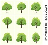 tree icon set   collection of 9 ... | Shutterstock .eps vector #573100105