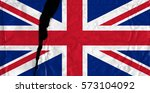 torn and grunge flag of united...   Shutterstock . vector #573104092