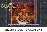 restaurant. valentine's day....   Shutterstock . vector #573108076