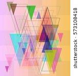 geometric background template | Shutterstock .eps vector #573108418