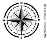 compass wind rose hand drawn... | Shutterstock . vector #573111568