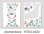 abstract vector layout... | Shutterstock .eps vector #573111622