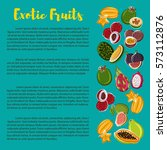fruit nutrition poster with... | Shutterstock .eps vector #573112876