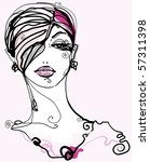 abstract fashion portrait | Shutterstock .eps vector #57311398