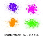 colorful paint splatters.paint... | Shutterstock .eps vector #573115516