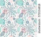 seamless vector floral pattern | Shutterstock .eps vector #573116818