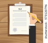 sla service level agreement... | Shutterstock .eps vector #573120796