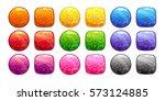 cartoon colorful buttons set....