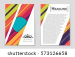 abstract vector layout... | Shutterstock .eps vector #573126658