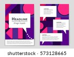 abstract vector layout... | Shutterstock .eps vector #573128665
