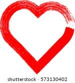 hearts . grunge stamps... | Shutterstock .eps vector #573130402