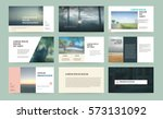 presentation templates. use in... | Shutterstock .eps vector #573131092