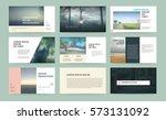 original presentation templates ... | Shutterstock .eps vector #573131092