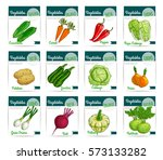 vector price labels of farm... | Shutterstock .eps vector #573133282