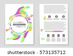 abstract vector layout... | Shutterstock .eps vector #573135712