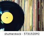 old vinyl record and a... | Shutterstock . vector #573152092