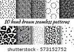 hand drawn seamless triangle... | Shutterstock .eps vector #573152752