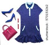 beautiful luxury women clothes... | Shutterstock . vector #573153262