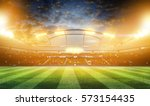 lights at night and stadium 3d | Shutterstock . vector #573154435