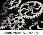 gears wheels from rusty metal... | Shutterstock . vector #573154672