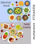 healthy food icon set with... | Shutterstock .eps vector #573164356