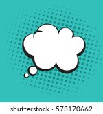 thoughts bubble in pop art... | Shutterstock .eps vector #573170662
