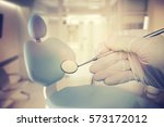 dental instruments for dental...   Shutterstock . vector #573172012