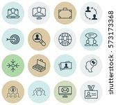 set of 16 business management... | Shutterstock .eps vector #573173368