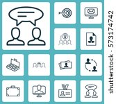 set of 12 business management... | Shutterstock .eps vector #573174742