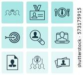 set of 9 business management... | Shutterstock .eps vector #573175915