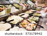 close up view of an appetizing... | Shutterstock . vector #573178942