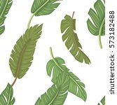 seamless pattern with leaves... | Shutterstock .eps vector #573182488