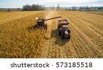 Harvesting corn in autumn...