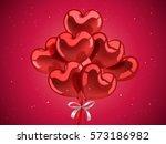 valentine's day elements  heart ...   Shutterstock .eps vector #573186982