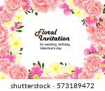 vintage delicate invitation... | Shutterstock . vector #573189472