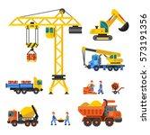 under construction technical... | Shutterstock .eps vector #573191356
