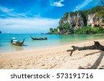 beautiful tropical ton sai... | Shutterstock . vector #573191716
