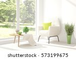 white room with armchair and... | Shutterstock . vector #573199675