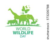 world wildlife day  march 3 | Shutterstock .eps vector #573200788