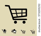 shopping cart icon set isolated ... | Shutterstock .eps vector #573205252