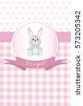 baby girl shower or arrival... | Shutterstock .eps vector #573205342