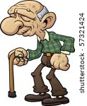 cartoon grandfather with cane....