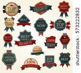 set of vector badges and labels.... | Shutterstock .eps vector #573222832