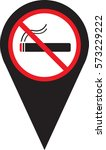 no smoking area sign vector | Shutterstock .eps vector #573229222