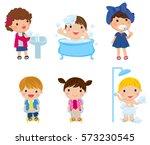 illustration of kids and... | Shutterstock .eps vector #573230545