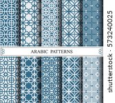 arabic vector pattern  web page ... | Shutterstock .eps vector #573240025