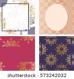 pack of 4 regal frames | Shutterstock .eps vector #573242032