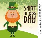 saint patricks day leprechaun... | Shutterstock .eps vector #573242656
